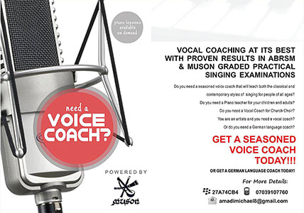 Voice Coaching flyer